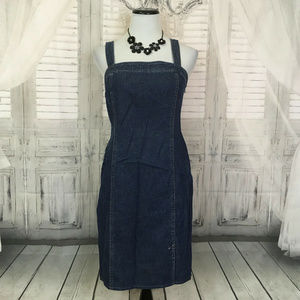 Denim Blue Jumper Sleeveless Jean Dress Size 6